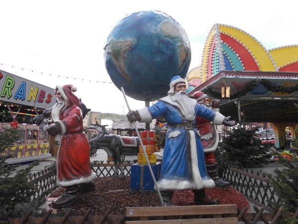 Weihnachtsmarktszene