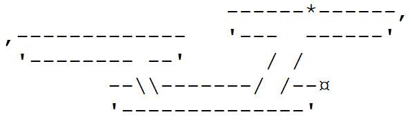 Enterprise aus ASCII-Zeichen